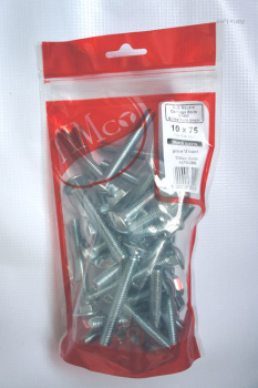 TIMBAG 08100CBB BAG=40 M8 X 100 COACH BOLTS & NUTS ZC