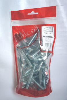 TIMBAG 1075CBB BAG=28 M10 X 75 COACH BOLTS & NUTS ZC