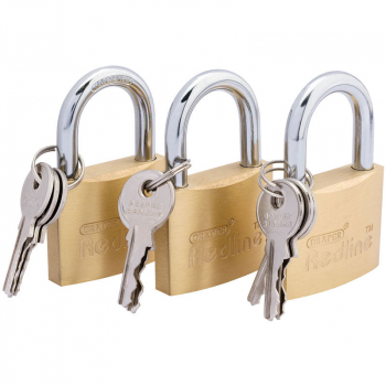 DRAPER 68695 PADLOCK SET 40mm (3 PIECE)