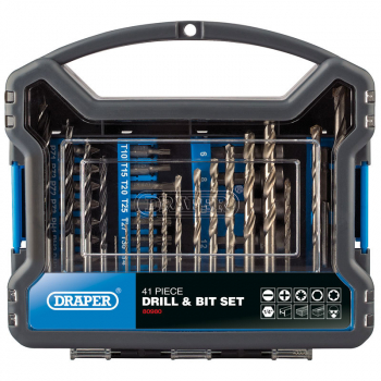 DRAPER 80980 DRILL BIT ACCESSORY KIT (41 PIECE)