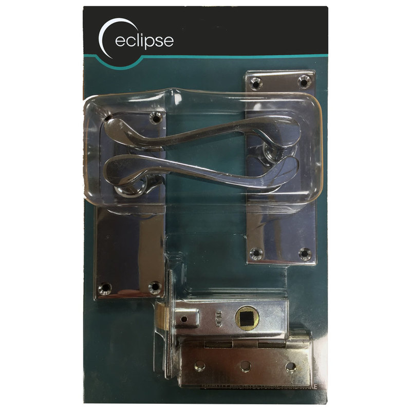 VICTORIAN SCROLL LEVER LATCH CP DOOR PACK Eclipse J03635