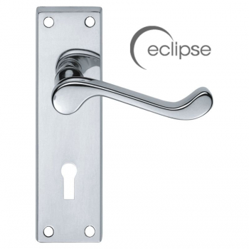 Eclipse Victorian Scroll Lock Handle J34100 Polished Chrome