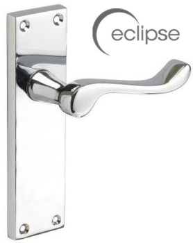 Eclipse Victorian Scroll Latch Handle J34101 Polished Chrome