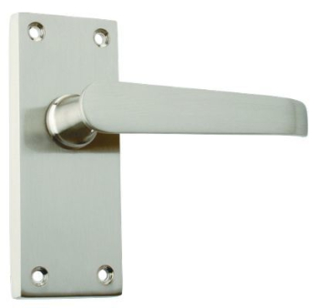 Eclipse Victorian Lever Latch Handle Set J34405 Satin Chrome