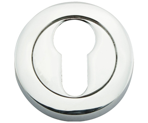 Eclipse Escutcheon Euro Profile J37463 Satin Chrome