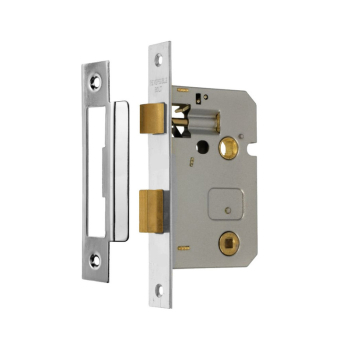 Bathroom Lock 63mm Eclipse J73019 Nickel Plate