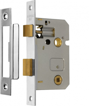 Bathroom Lock 76mm Eclipse J73021 Nickel Plate