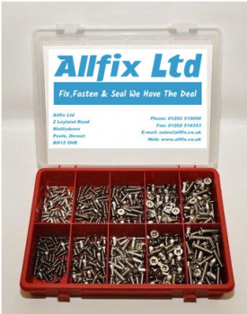 SELECTION PACK A2/STAINLESS METRIC M/SCREW CSK POZI 500PC