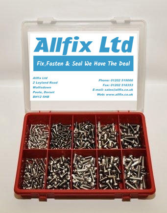 SELECTION PACK A2/STAINLESS METRIC M/SCREW PAN POZI 400PC