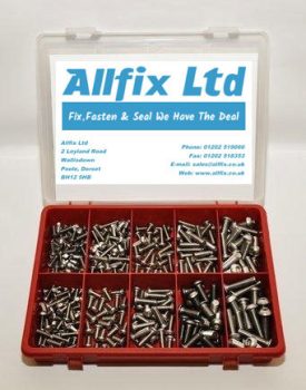SELECTION PACK A2/STAINLESS METRIC SOCKET BUTTON 310PC