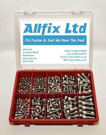 SELECTION PACK A2/STAINLESS METRIC SOCKET CAPSCREW 250PC