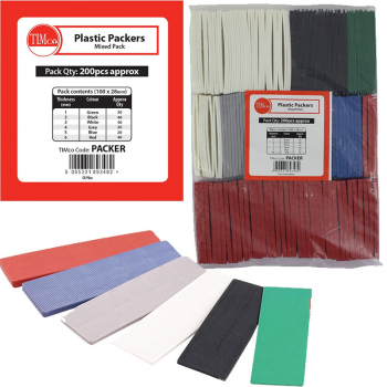 ASSORTED FLAT PACKERS 1MM TO 6MM (PACK OF 200)