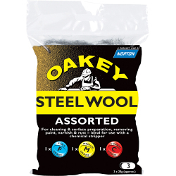ASSORTED STEEL WOOL 60G OAKEY 636425 26769
