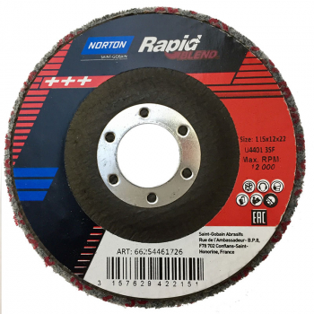 Norton Rapid Blend & Finish 115 X 22mm Disc - NEX3SF