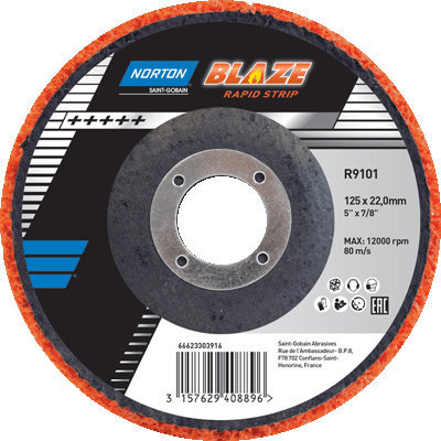 Norton Blaze Rapid Strip Disc 115 X 22.0mm 66623303783