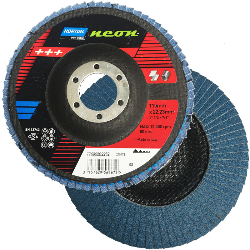 NEON FLAP DISC 115 X 22 40G NORTON 77696082248