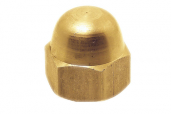 NUT DOME BRASS M6