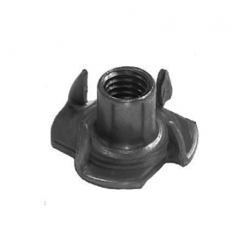 M10 x 13.0mm Pronged Tee Nut Steel Self Colour