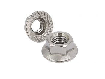 NUT WASHER FACED STL ZINC M6 SERRATED FLANGE