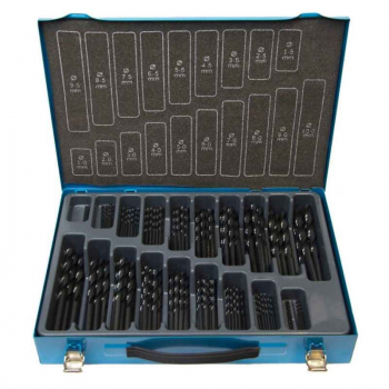 170PC HSS SET BF FLUTE GROUND 1-10MM IN METAL CASE 09596M170