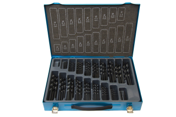 170PC HSS SET ROLL FORGED 1-10MM IN METAL CASE 09597M170