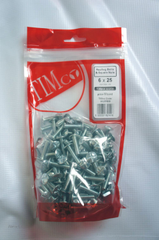 TIMBAG 0625RBB BAG=130 M6 X 25 ROOFING BOLTS & NUTS ZC