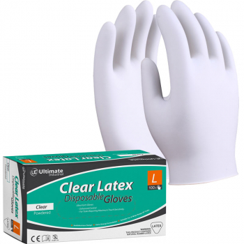 BX100 POWDERED LATEX GLOVE CLEAR LARGE DG-LATEX/L