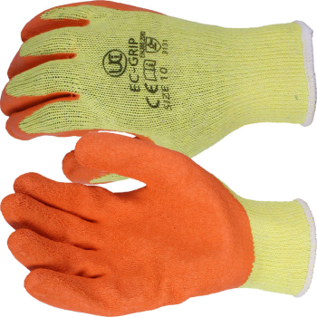 EC-GRIP ORANGE GLOVES SIZE 10 ECONOMICAL RANGE
