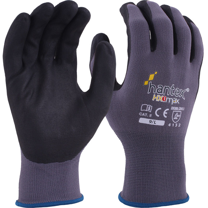 FOAMED NITRILE PALM GLOVES SIZE 9 HANTEX-HX1-MAX/9
