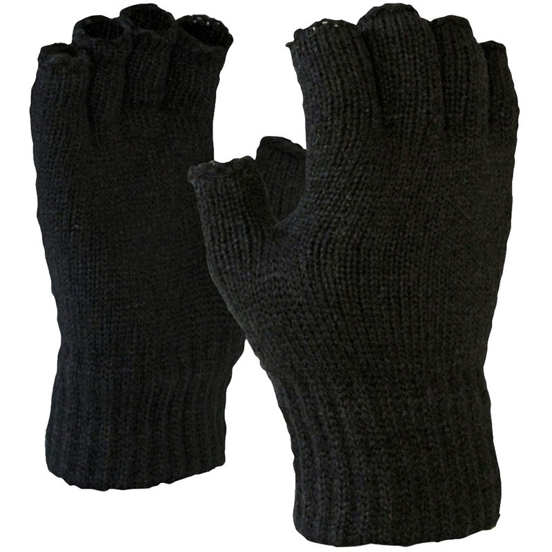 Thermal Fingerless Acrylic Glove PBK7FL Black One Size