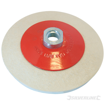 Bevelled Felt Buffing Wheel Silverline 115mm