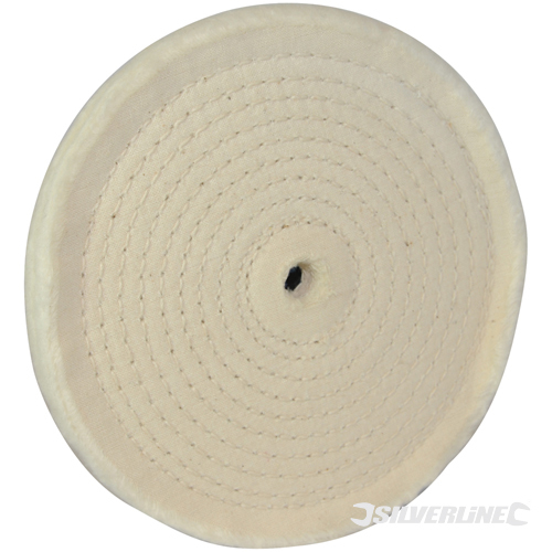 Spiral-Stitched Cotton Buffing Silverline 150mm Wheel