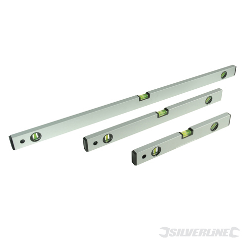 Builders Level Set 3pce Silverline 400, 600 & 1000mm