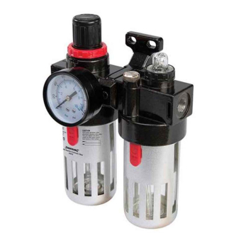 Air Filter Regulator & Lubrica Silverline 150ml