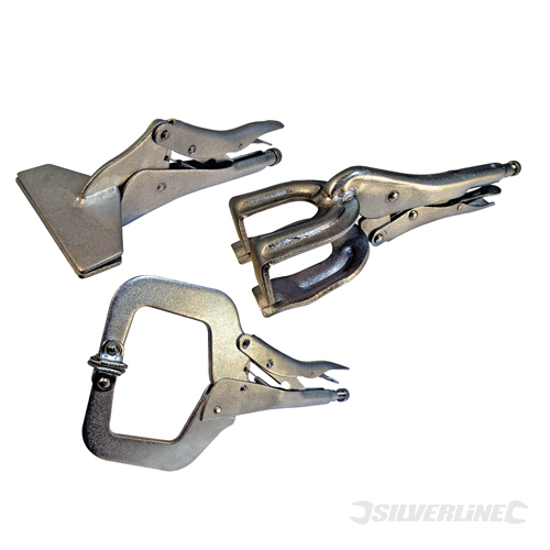 Welding Clamp Set 3pce Silverline 3pce