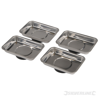 Magnetic Tray Set 4pce Silverline 95 x 65mm