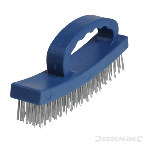 D-Handle Wire Brush Silverline 4 Row