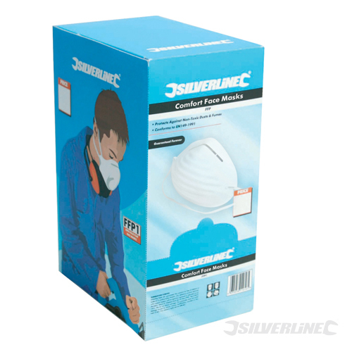 Comfort Dust Masks 50pk Silverline 50pk