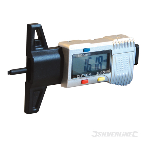 Digital Depth Gauge Silverline 0 - 25mm