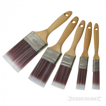 Synthetic Brush Set 5pce Silverline 19, 25, 40, 50 & 75