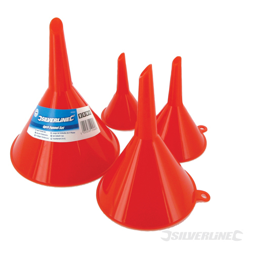 Funnel Set 4pce Silverline 50, 75, 100 & 120mm