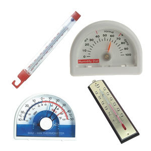 Indoor/Outdoor Swing Thermomet Silverline -50 to +50C