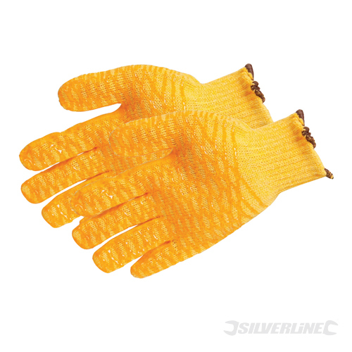 Yellow Gripper Gloves Silverline Large