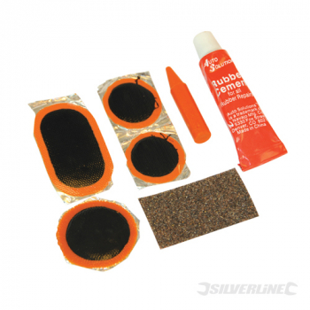 Puncture Repair Kit 7pce Silverline 7pce