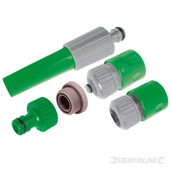 Hose Connector Set 5pce Silverline 5pce