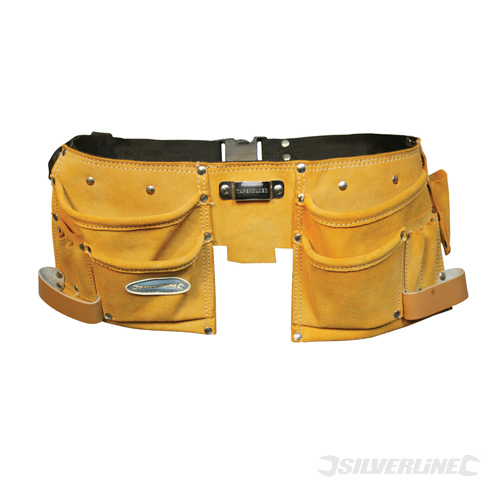 Double Pouch Tool Belt 11 Pock Silverline 300 x 200mm