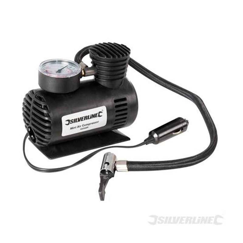 Mini Air Compressor Silverline 12V DC