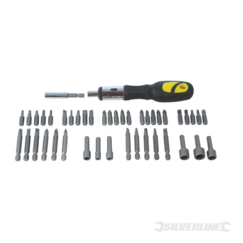 Ratchet Screwdriver Bit & Sock Silverline Set 45pce
