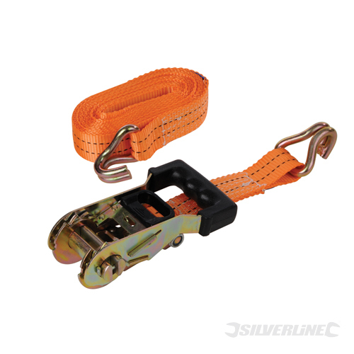 Rubber Ratchet Tie Down Strap Silverline Rated 750kg Cap2000