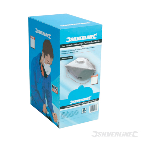Fold Flat Valved Face Mask FFP Silverline FFP3 NR Box 25pk
